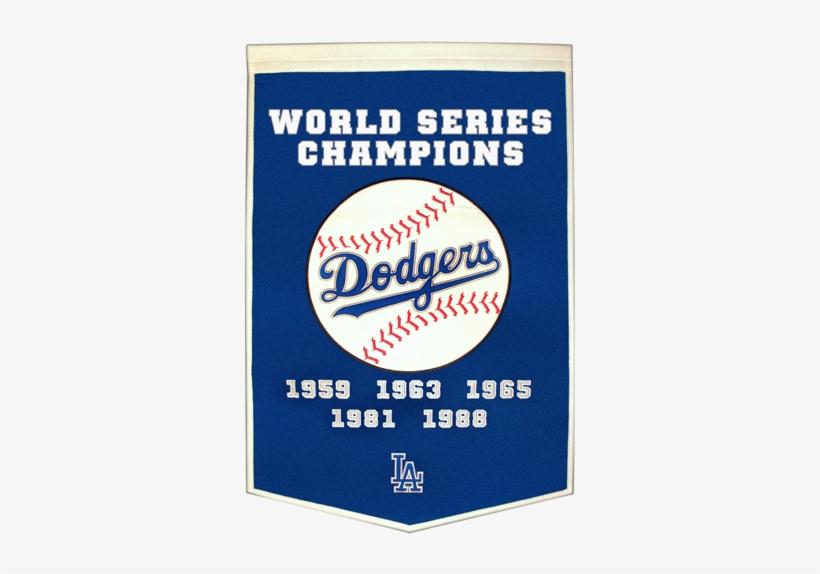 Los Angeles Dodgers World Series Championship Dynasty - Los Angeles Dodgers World Series Championships, transparent png #3222472