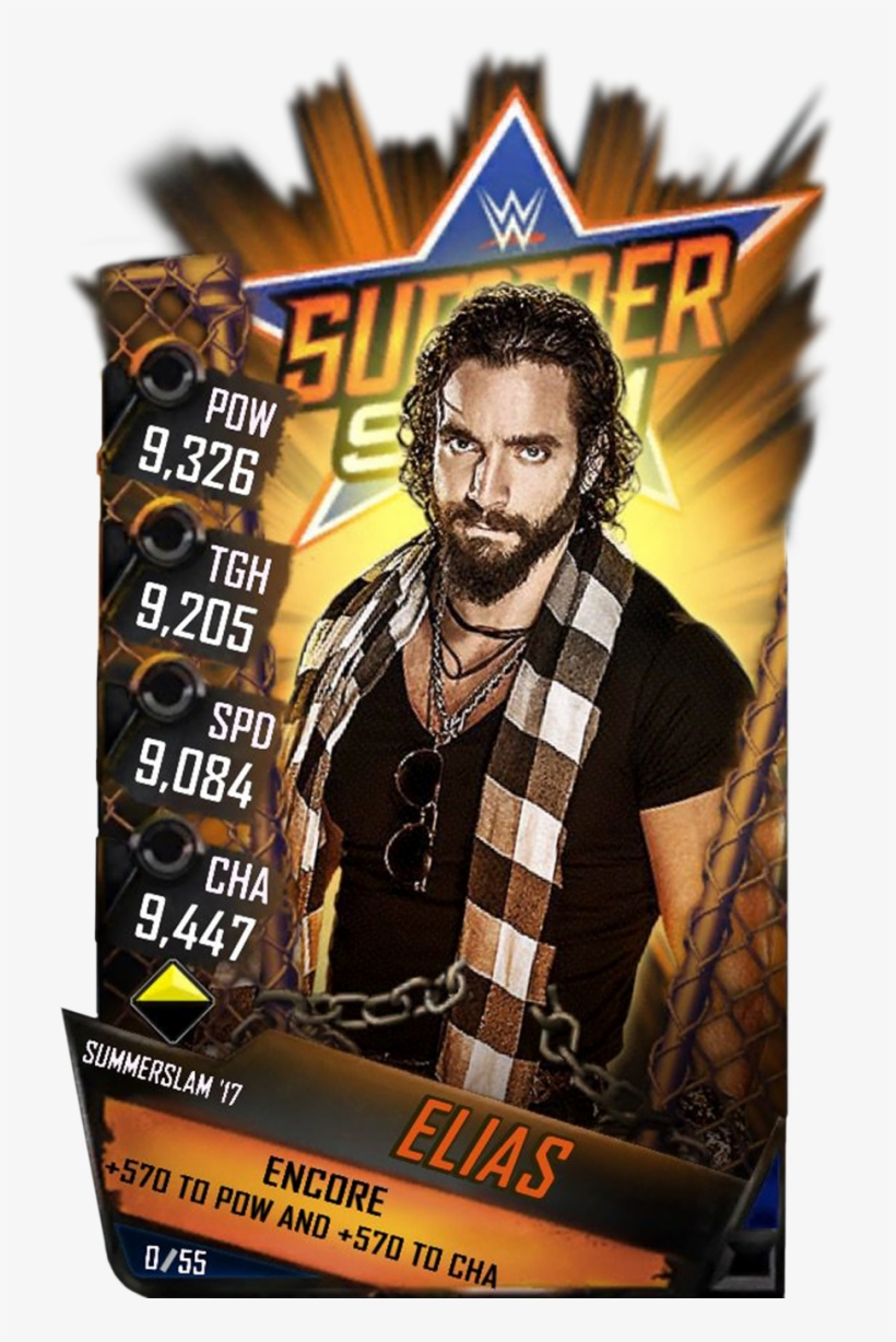Supercard Elias S3 15 Summerslam17 - Wwe Supercard Jimmy Uso, transparent png #3225725