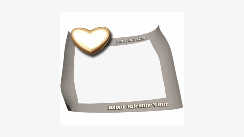 Happy Valentines Day Photo Frame Heart Free Transparent Png