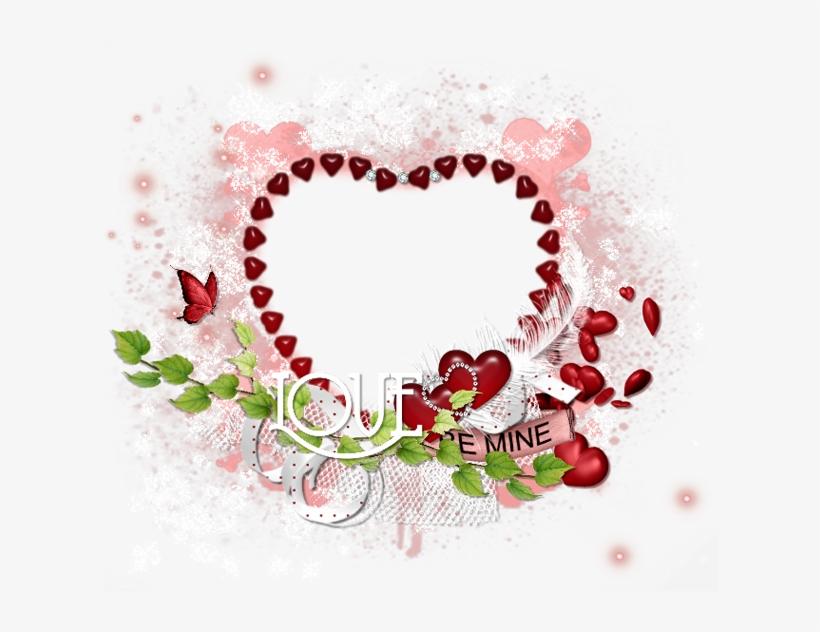 Ftu Cluster Frame - Valentine Heart Frame Png, transparent png #3226578