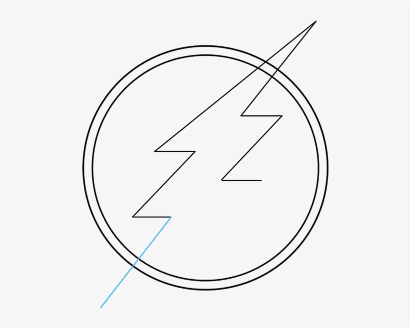 How To Draw The Flash Logo Really Easy Drawing Tutorial - Drawing, transparent png #3226873