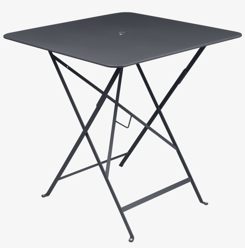 Fermob Bistro Folding Table 0244 - Bistro Folding Table 71x71cm - Cedar Green/lacquered, transparent png #3227417