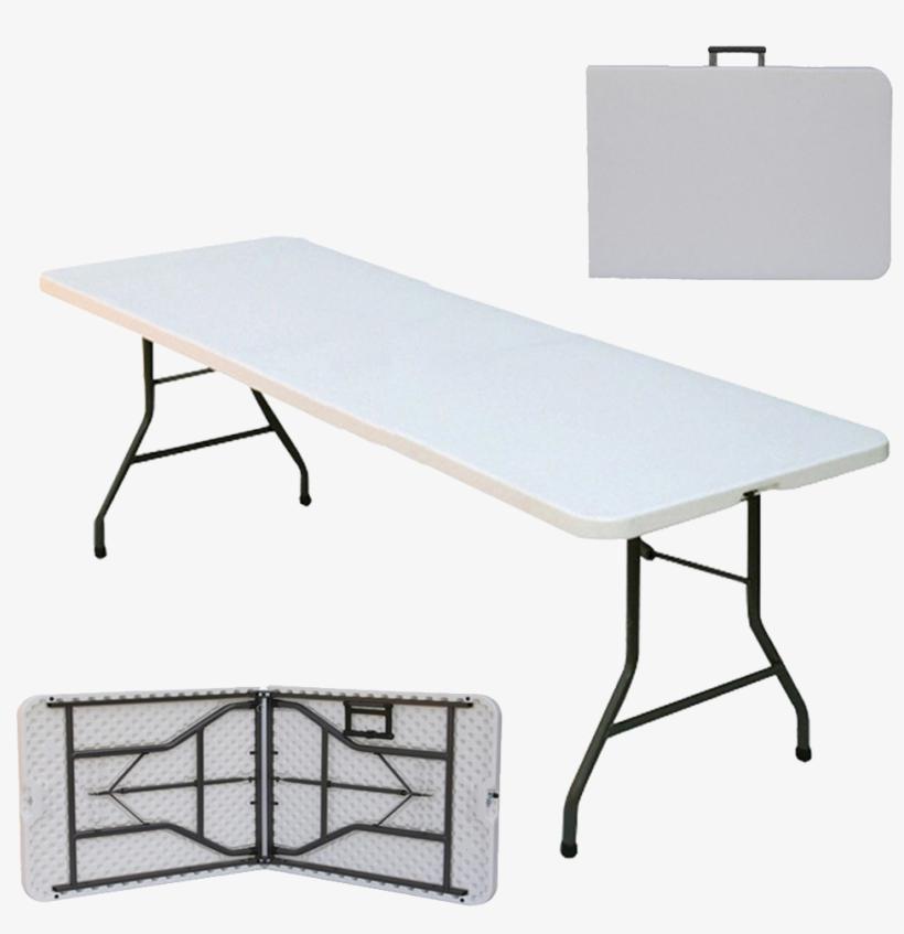 """6ft Folding Table - Correll, Inc. 72"""" Rectangular Folding Table, transparent png #3227524"""