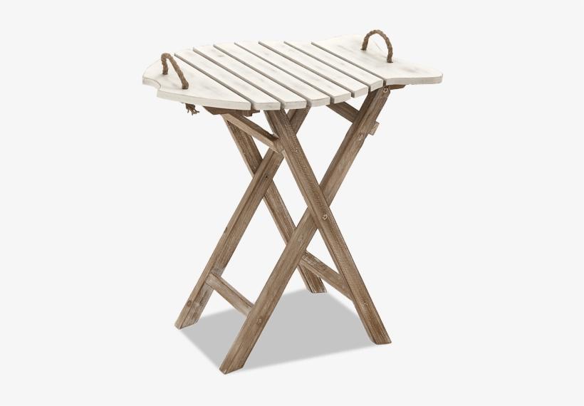 """24"""" Fish Folding Table - Benzara 20436 Wood Folding Table, transparent png #3227825"""