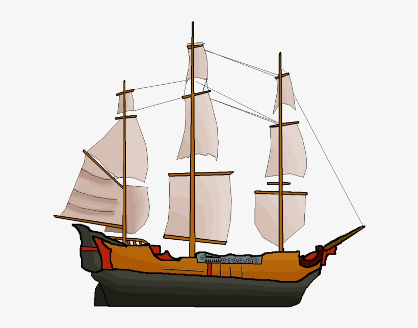 Large Pirate Ship Image - Pirate Ship Boat Sprite, transparent png #3228955