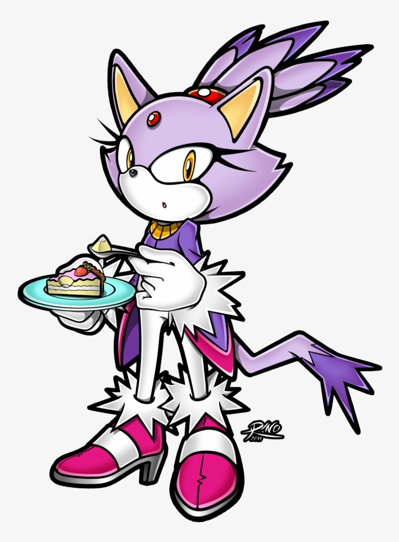 Sonic Rush Sonic Rush Adventure Tails Cat Pink Mammal - Blaze The Cat Eating, transparent png #3231384