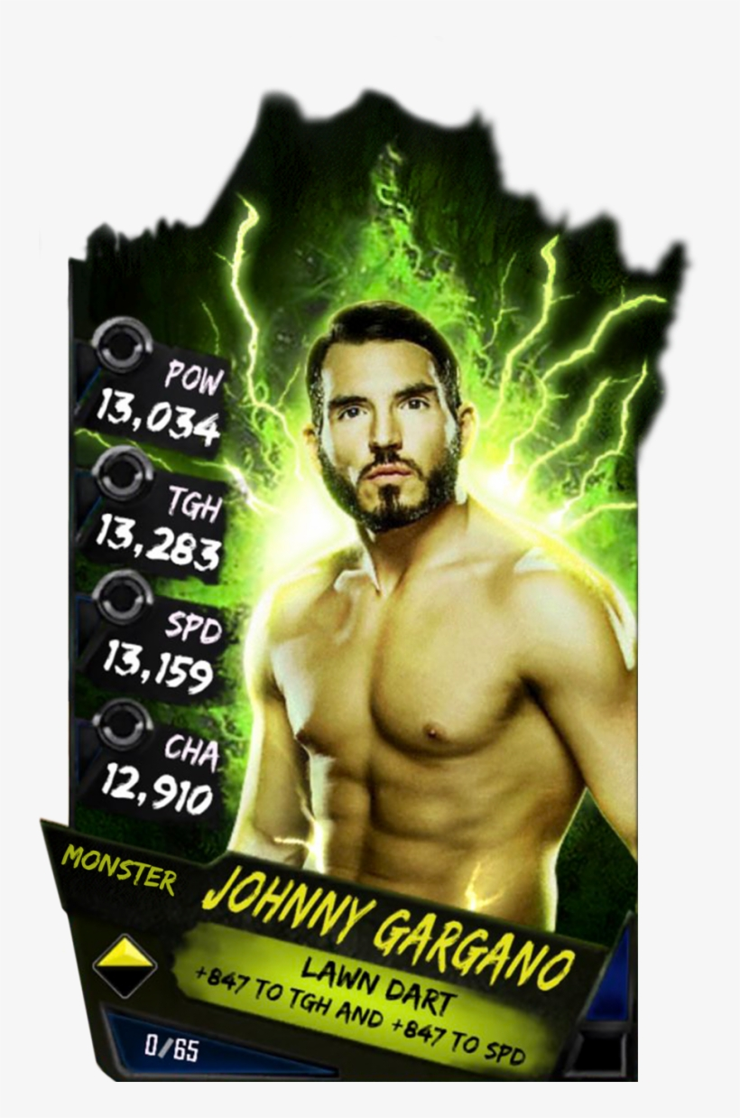 Supercard Johnnygargano S3 Hardened Fusion 10606 - Wwe Supercard Monster Cards, transparent png #3233804