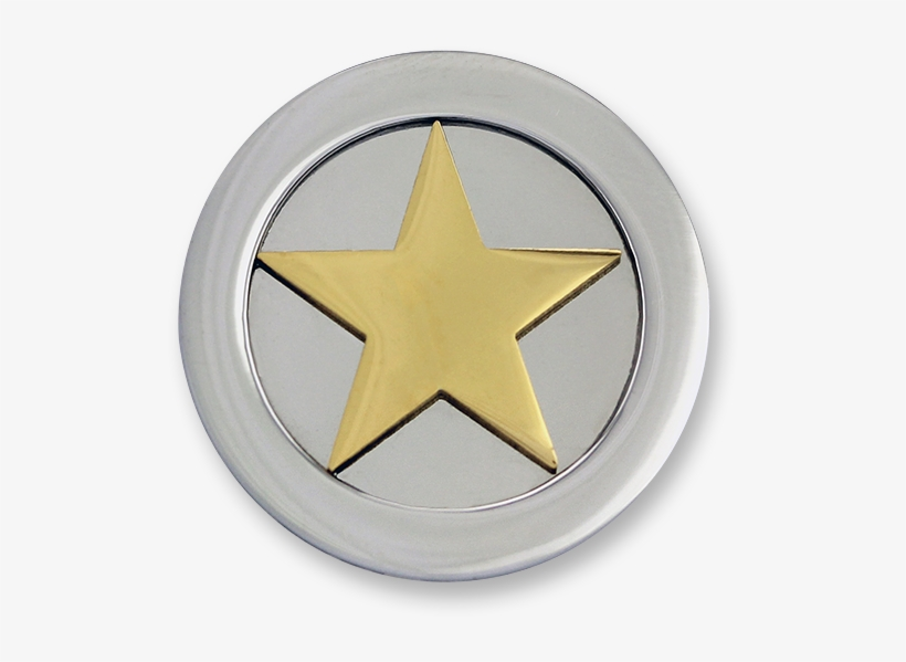 3d Star Stainless Steel Gold Plated - Mi Moneda 3d-st-02 3d Star Goldplated Munt, transparent png #3234855
