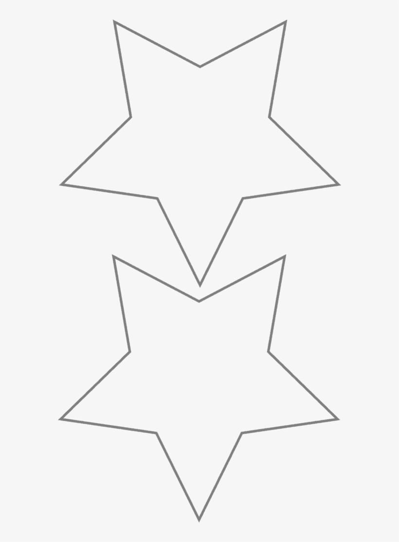 Transpa Star Template Christmas Stars Line Art Png 3235026