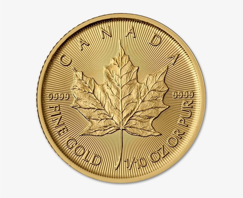 Sell 1 Oz Gold Canadian Maple Leaf - Canada Gold Coin 1 10, transparent png #3235520