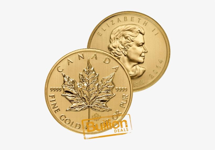 2014 Canadian Maple Leaf Gold 1 Oz Coin Bulk - Canadian Maple Leaf, transparent png #3235716
