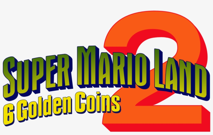 Super Mario Land 2 6 Golden Coins - Super Mario Land 2 6 Golden Coins Logo, transparent png #3235939