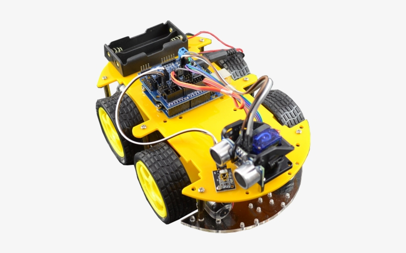 Bluetooth Intelligent Remote Control Car Kit - Multifunction Bluetooth Controlled Robot Smart Car, transparent png #3237235