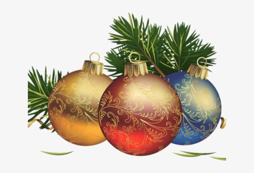 Christmas Ornament Clipart Corner Border - Christmas Day, transparent png #3237852