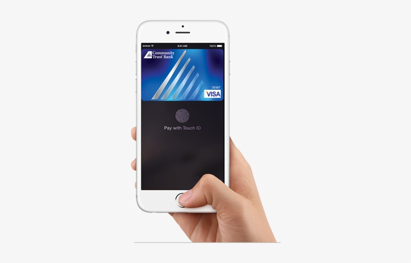 A Hand Holding A Smart Phone With A Picture Of A Blue - No Mobile Wallet, transparent png #3238105