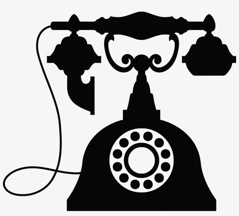 Brown Rotary Telephone - Old Phone Clipart - Free