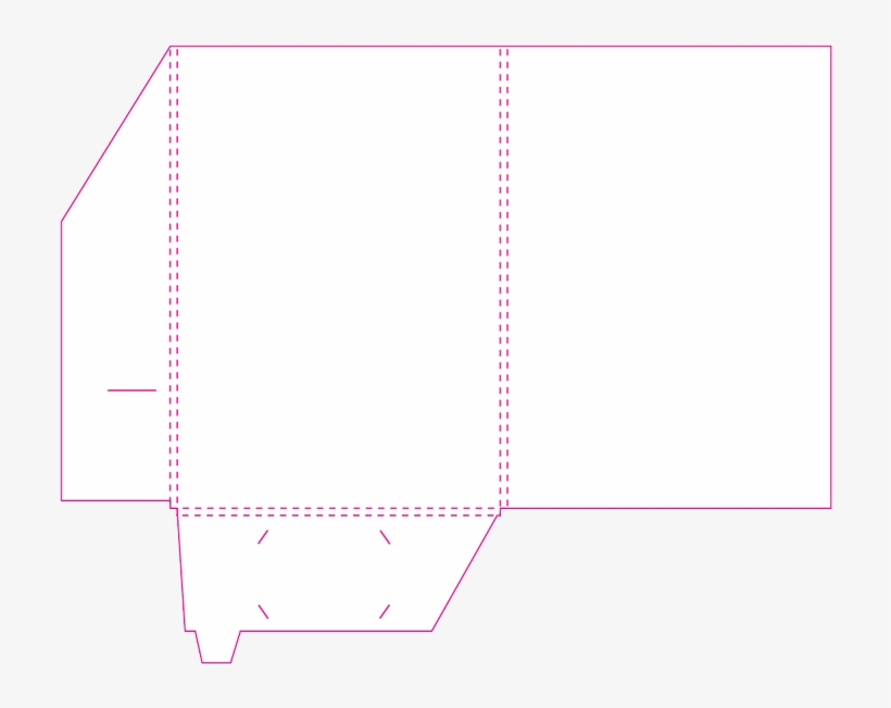 Folder With Business Card Slot Template Presentation - A4 Presentation Folder Template, transparent png #3239069