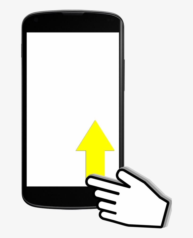 5 Swiping Up Mobile Phone Free Transparent Png Download Pngkey