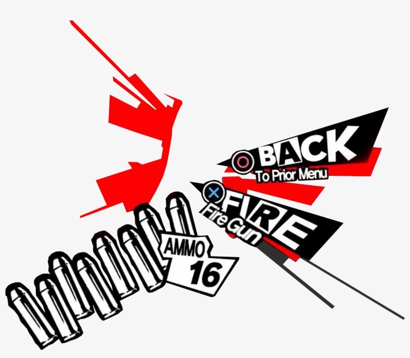 For Those Of You Who Just Want To Push Persona Gun - Persona 5, transparent png #3240885