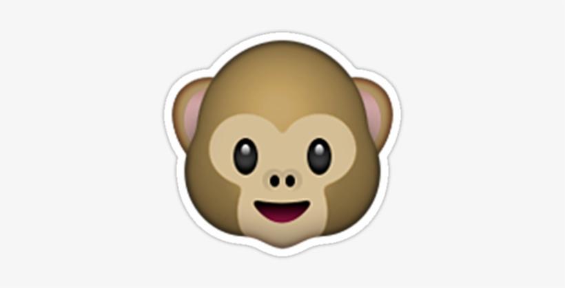"""monkey Emoji"" Stickers By Emoji- - Emoji Monkey Face, transparent png #3243938"