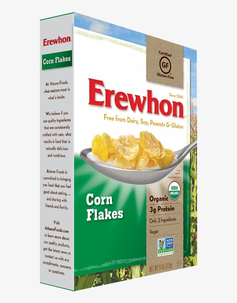 Erewhon Cereals Web Cornflakes - Erewhon Organic Raisin Bran Cereal - 15 Oz Box, transparent png #3244332