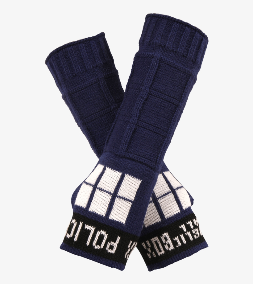 Doctor Who Tardis Arm Warmers - Tardis Armwarmers, transparent png #3247599