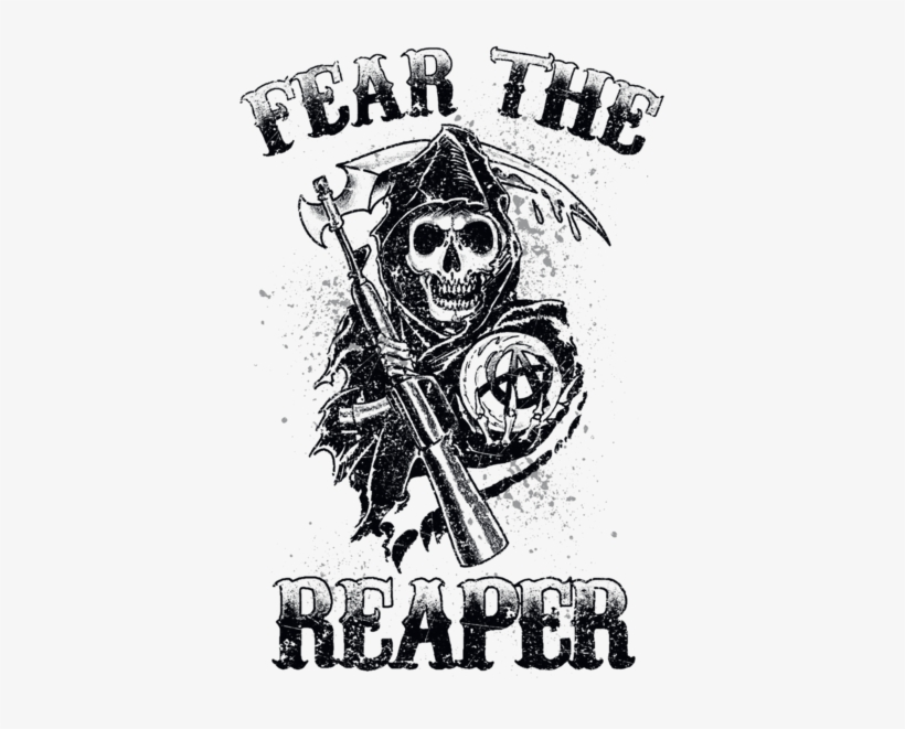 Sons Of Anarchy Fear The Reaper Mens V Neck T Shirt Sons Of