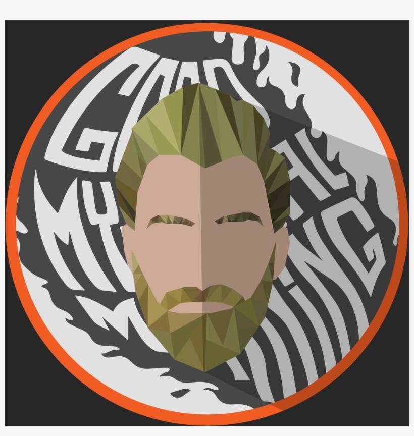 Rhett/white Font/gray Flame & Background - Good Mythical