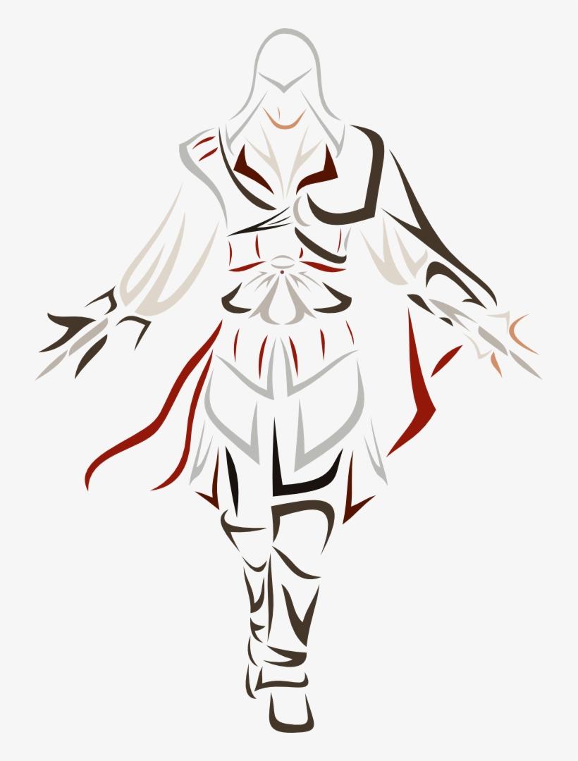 Ezio Auditore Da Firenze By Id-107 - Vinilos Decorativos Assassins Creed, transparent png #3249852