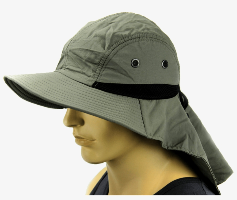 Fishing Sun Hat - Bucket Hat With Neck Cover, transparent png #3251845
