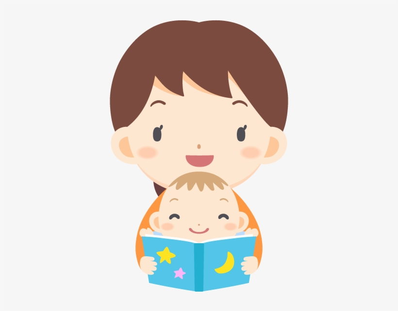 Woman Reading A Picture Book For Baby Free Png And - Baby Reading Book Png, transparent png #3251981