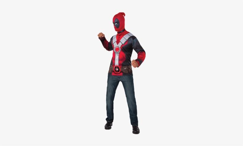 Adult Deadpool Costume Set - Deadpool Classic Costume Top Adult - Size Std, transparent png #3252247