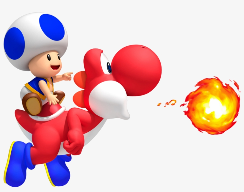 Fire Yoshi - New Super Mario Bros. Nintendo Wii, transparent png #3253246