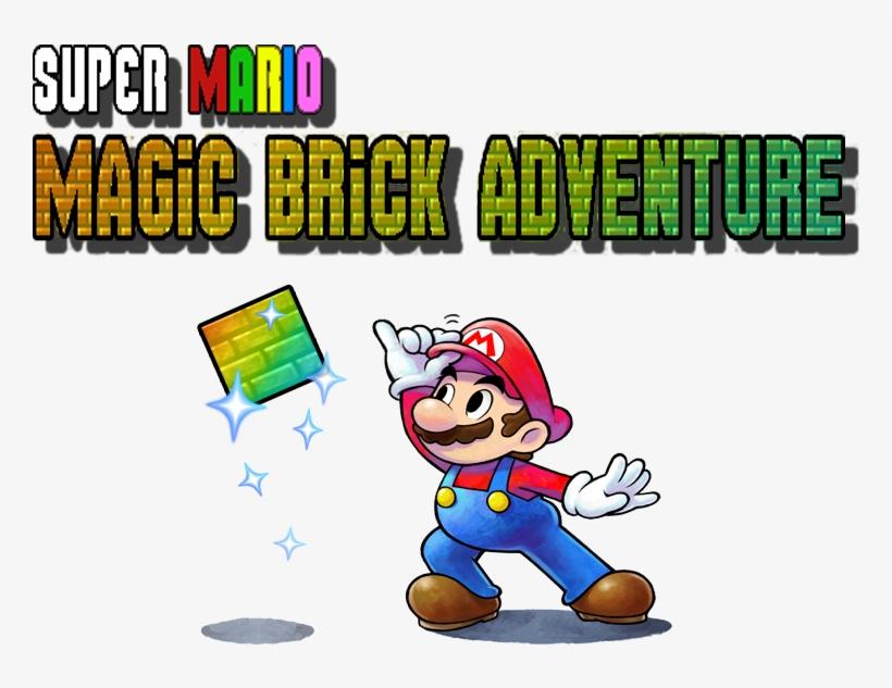 Super Mario Magic Brick Adventure - Mario & Luigi Paper Jam Bros. (nintendo 3ds), transparent png #3253770