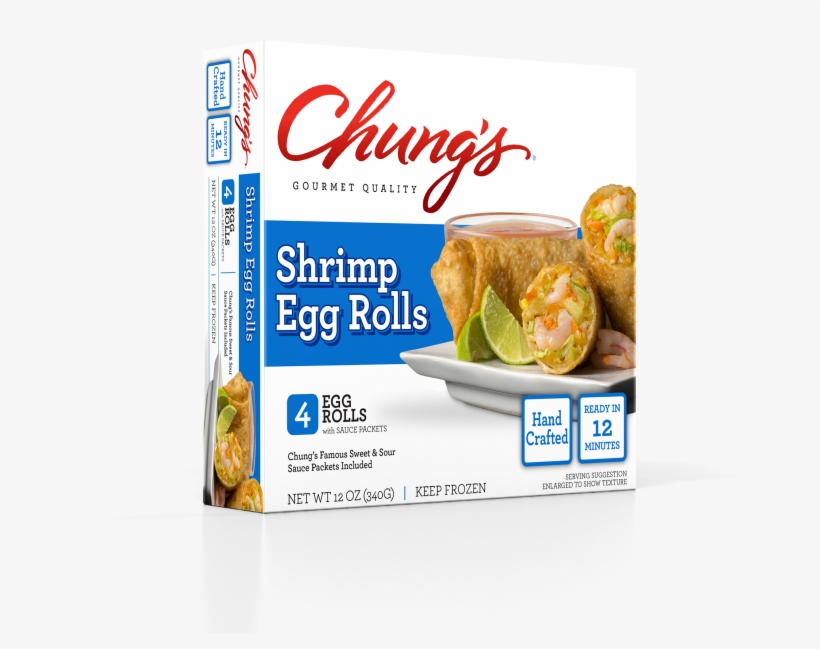 Chung's 4ct Shrimp Egg Rolls - Chungs Egg Rolls, Shrimp - 4 Egg Rolls, 12 Oz, transparent png #3257597