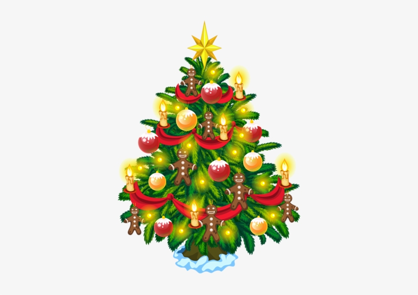 Christmas Tree Clipart, Christmas Tree Wreath, Christmas - Christmas Tree, transparent png #3261180