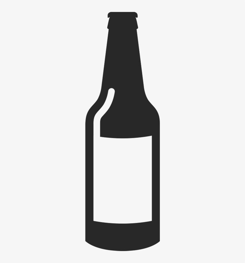 Blank Beer Bottle Rubber Stamp - Blank Beer Bottle Outline, transparent png #3261377