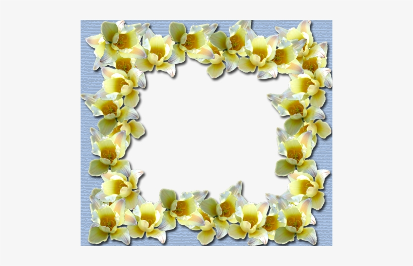 Yellow Border Frame Png File - Yellow Flowers Border Only, transparent png #3262172
