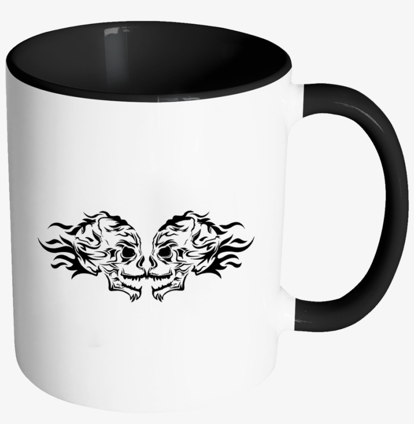 fire skull accent mug coffee morning motivational quotes