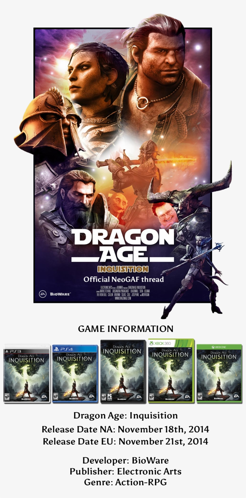 Dragon Age Inquisition Takes Place In A Semi-open World - Dragon Age Inquisition Xbox 360 Ea Games, transparent png #3271557