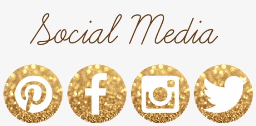 Social Media - Gold Facebook And Instagram Logo, transparent png #3274239