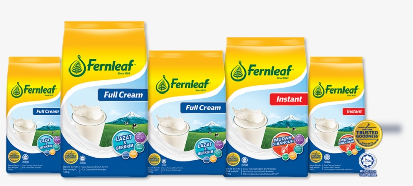 Fernleaf Full Cream & Instant Milk Powder - Milk, transparent png #3275040