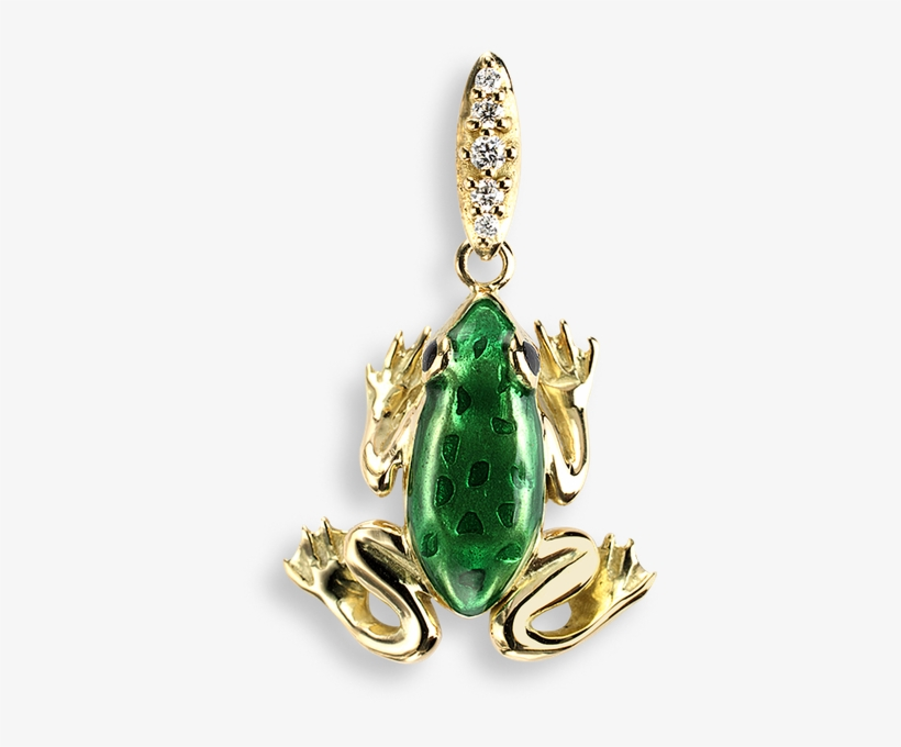 Nicole Barr Designs 18 Karat Gold Necklace Frog Green - Diamonds Green Frog Stud Earrings - 18k Gold, transparent png #3279430