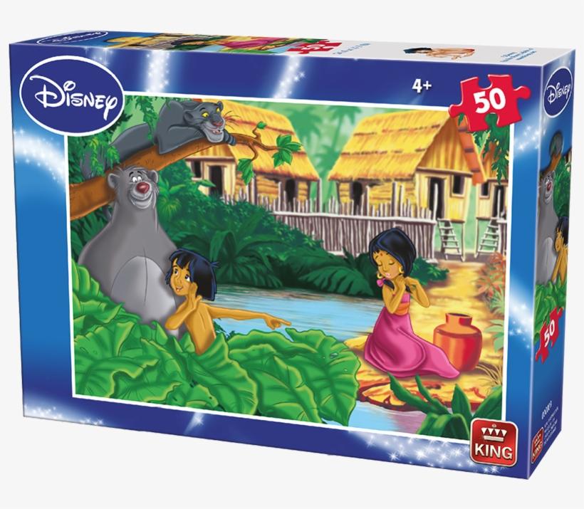 Disney 50pcs Jungle Book A B Ass - 50 Piece King Puzzles Disney Jungle Book, transparent png #3281778
