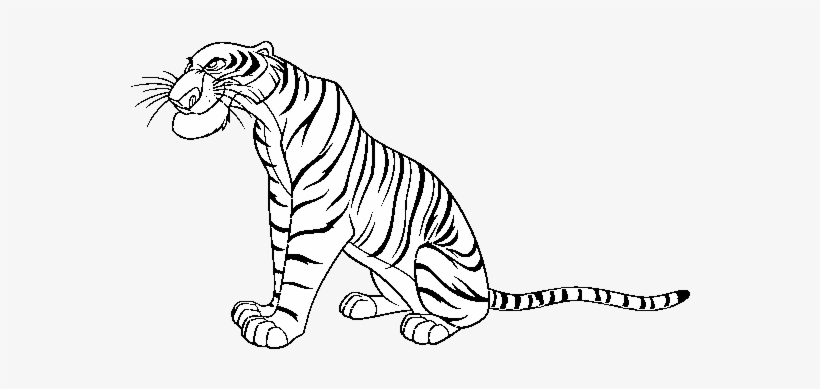 Jungle Book Shere Khan Jungle Book Shere Khan Coloring Pages Free Transparent Png Download Pngkey