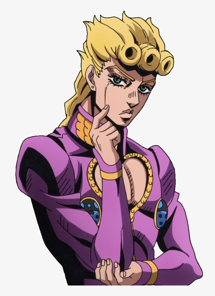 Fictional Character Man Purple Human Hair Color Cartoon Giorno Giovanna Free Transparent Png Download Pngkey