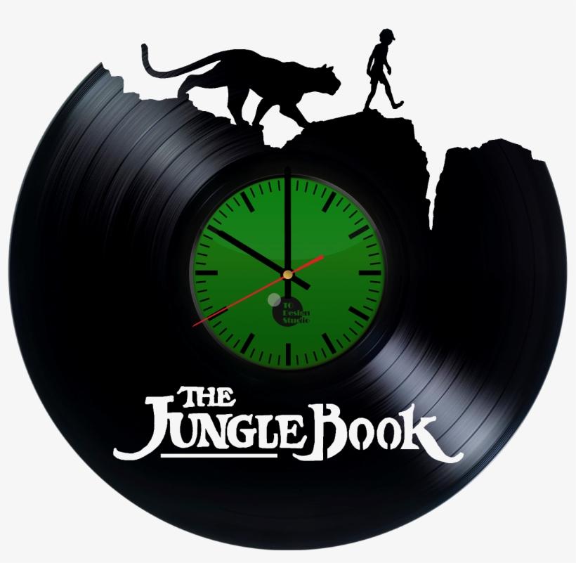 The Jungle Book Handmade Vinyl Record Wall Clock Fan - Disney: The Jungle Book (2016) Soundtrack, transparent png #3282064