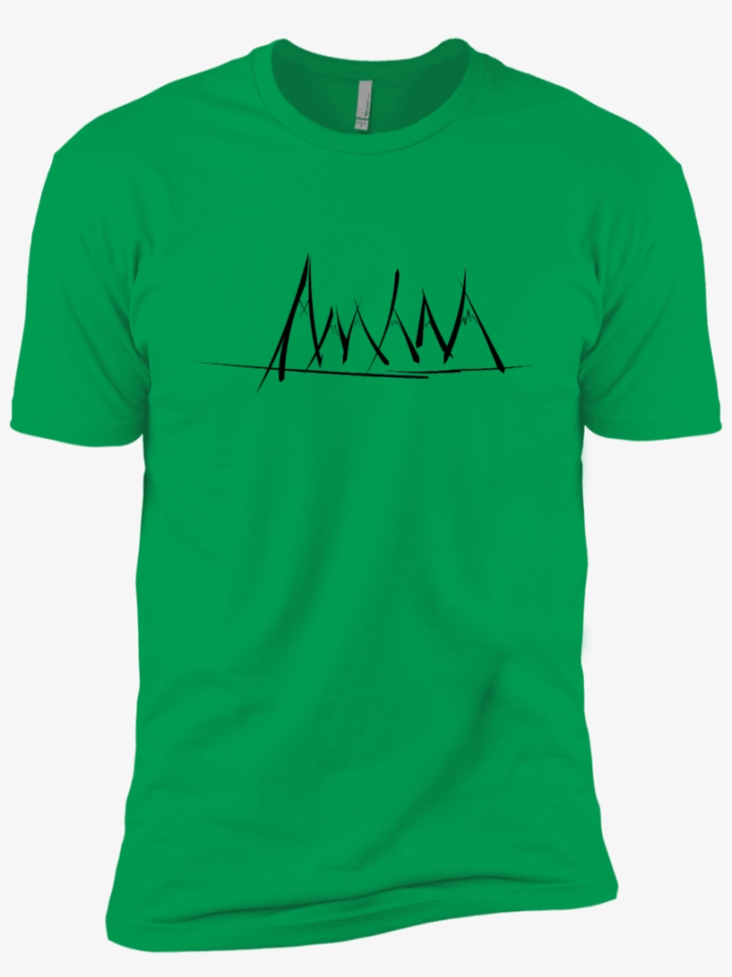 Mountain Brush Strokes Boys Premium T-shirt - Green T Shirt Side, transparent png #3282903