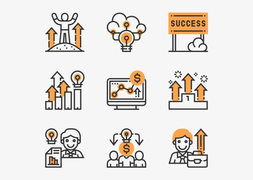 Business Success - Mathematics Icons, transparent png #3285896