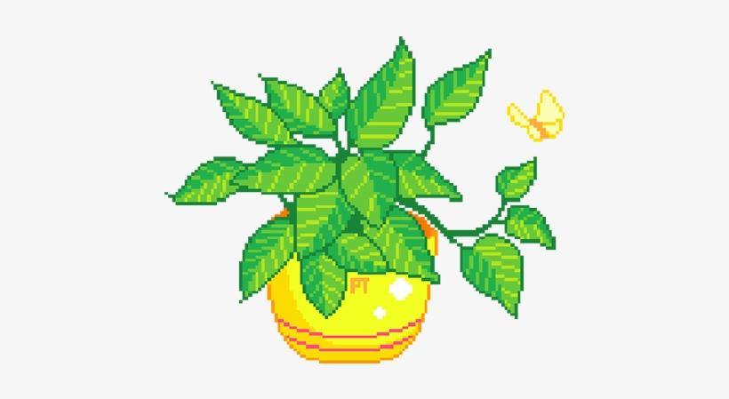 Free Transparent Pixel Plants Tumblr - Plant Pixel Gif